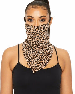 Face Mask Scarf, Scarf Face Mask, Neck Gaiter With Ear Loop