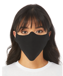 Bella Canvas Screen Printed T-shirt Mask, Single Layer Soft T-shirt Mask, Adult Ultra Thin and Comfortable Face Mask