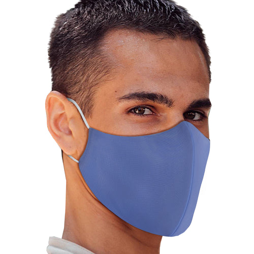 Solid Ocean Blue Face Mask