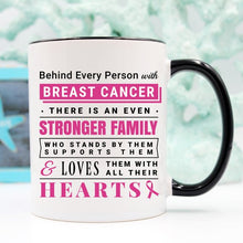 Load image into Gallery viewer, Breast Cancer Coffee Mug - Behind Every Person