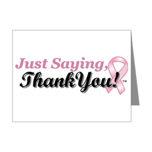 Breast Cancer Thank You Note Cards: Breast Cancer Support, Pink Ribbon Thank You Note Cards