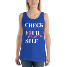 Load image into Gallery viewer, Check Yourself Unisex  Tank Top