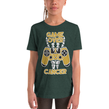 Load image into Gallery viewer, Game Over Children Cancer Awareness Youth Short Sleeve T-Shirt