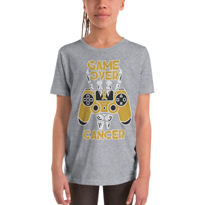 Game Over Children Cancer Awareness Youth Short Sleeve T-Shirt