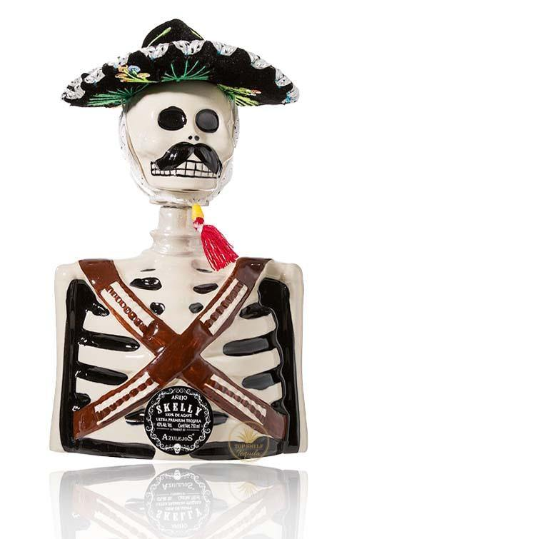 Los Azulejos Skelly Anejo Tequila - Pancho Villa Limited Edition (750ml / 40%) - TopShelfTequila.com.au