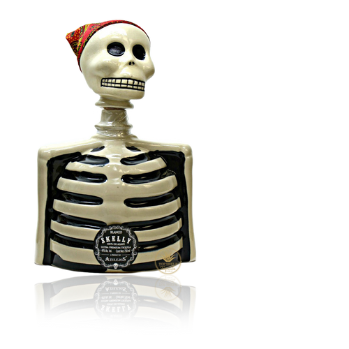 Los Azulejos Skelly Blanco Tequila (750ml / 40%)