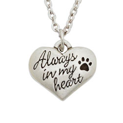 Always In My Heart Necklace - Engraving Available