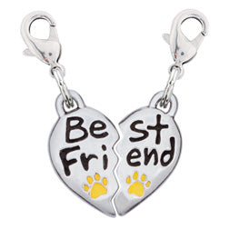 Pewter Heart Pet Tag - Best Friend Charm