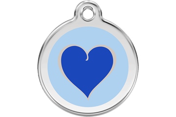 Two-Toned Heart Enamel Pet ID Tag in 4 Colors