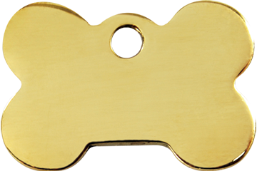 Flat Brass Dog ID Tags in 6 Different Shapes and 3 Sizes