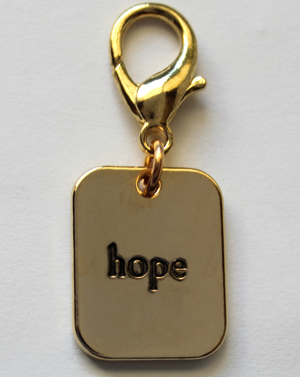 Gold Hope Pet Charm