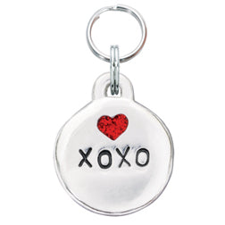 Pewter XOXO Pet Charm - With Heart