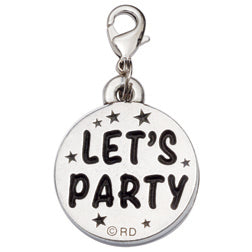 Pewter Cupcake Dog Charm - Birthday/Let's Party