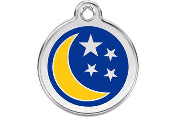 Moon and Stars Enamel Pet ID Tag