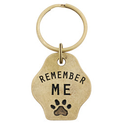 Remember Me Memorial Paw Keychain