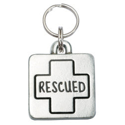 Square Rescued Pet ID Tag