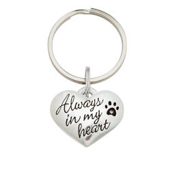 Always In My Heart Dog Keychain