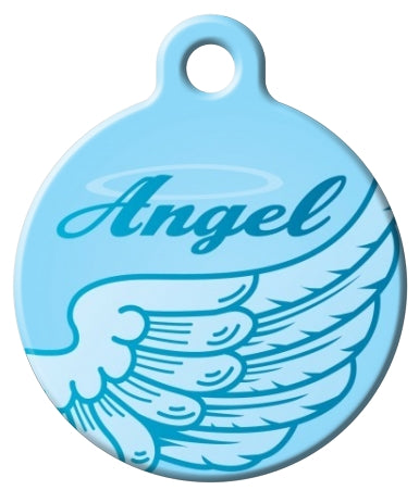 Angel Wing Pet id Tag