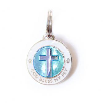 GOD Bless My Pet Medallion - Blue