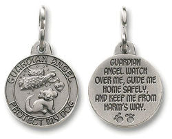 4 Pack of Guardian Angel Protect My Dog Medals / Special Value