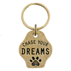 Chase Your Dreams Paw Keychain