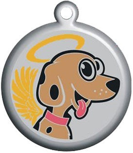 Smiling Angel Pet ID Tag