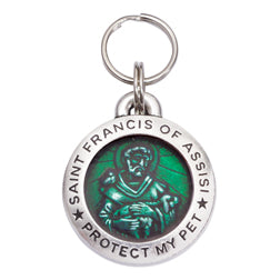 St Francis Pet ID Tag - Emerald