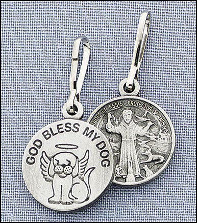 GOD Bless My Dog St Francis Charm