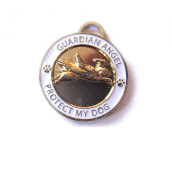 Guardian Angel Gold Dog Pendant