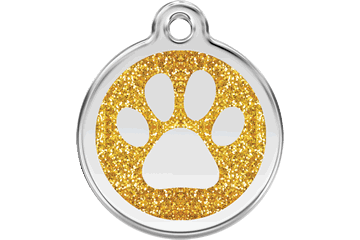 Glitter Paw Enamel Pet ID Tags in 7 Colors