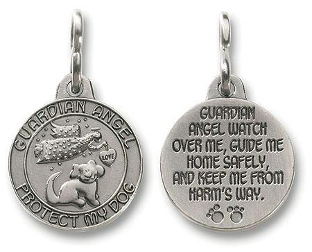 Guardian Angel Dog Charm
