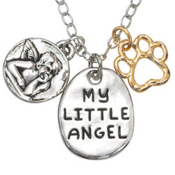 Guardian Angel Paw Necklace - Engraveable