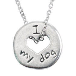 I Love My Dog Heart Necklace