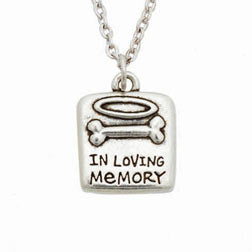 Pet Memorial Necklace - In Loving Memory - Engraveable
