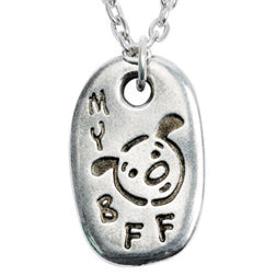 My BFF Pewter Dog Necklace - Matching Keychain Available