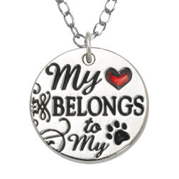 My Heart Belongs to My Dog Necklace - Engraveable