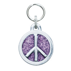 Glitter Circle Pet ID Tag Collection in 2 Sizes
