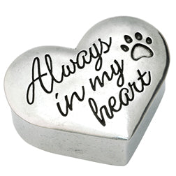 Always In My Heart Dog Trinket Box