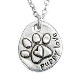 Puppy Love Paw Necklace - Matching Keychain Available