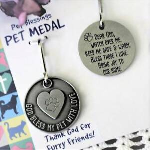 God Bless My Pet with Love Medal
