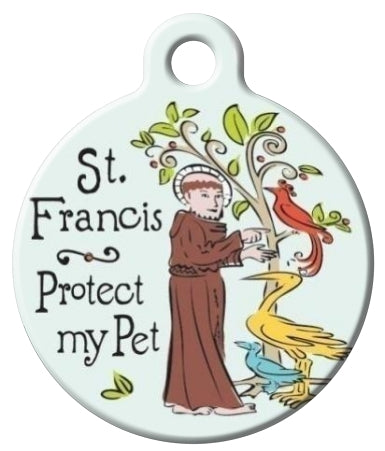 St Francis Protect My Pet id Tag