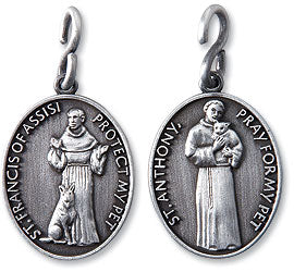 St Francis and St Anthony Pet Medal