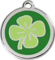 4 Leaf Clover Enamel Pet ID Tag