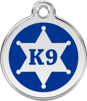 Sheriff K9 Enamel Pet ID Tag
