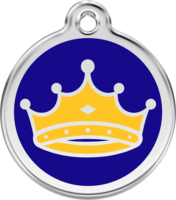 King Crown Enamel Pet ID Tag