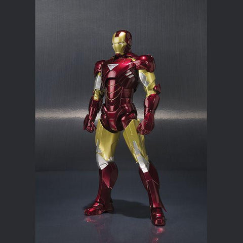 Iron Man: Bandai S.H.Figuarts Iron Man Mark VI and Hall of Armor Set Non-Scale Figure Tamashii Nations