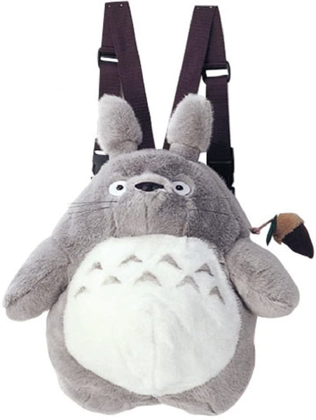 "15.5"" Gray Totoro Plush Backpack: Studio Ghibli Plush Sun Arrow"