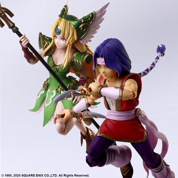 Trials of Mana: Bring Arts Hawkeye & Riesz Non-Scale Figure Pre-order Square Enix