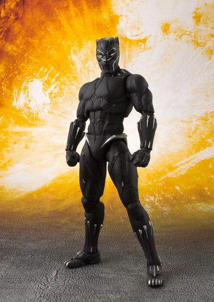 Avengers: Bandai S.H.Figuarts Black Panther & Tamashii Effect Rock Non-Scale Figure Tamashii Nations