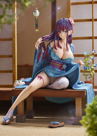 Original Character: Opening up her Yukata 1/6 Scale Figure (R18) Pre-order Pink Cat